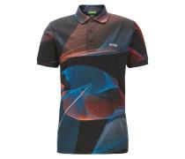 Bedrucktes Slim-Fit Poloshirt aus merzerisierter Baumwolle