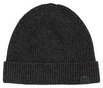 Gerippte Mütze aus merzerisierter Baumwolle