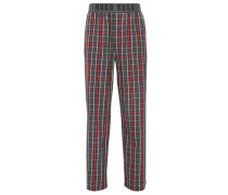 Karierte Pyjama-Hose aus Baumwolle