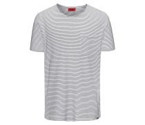 Gestreiftes Relaxed-Fit T-Shirt aus Baumwoll-Mix