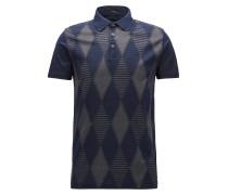 Slim-Fit Poloshirt aus Baumwolle mit Rautenmuster