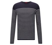 Slim-Fit Pullover mit maritimem Streifen-Muster aus Baumwolle