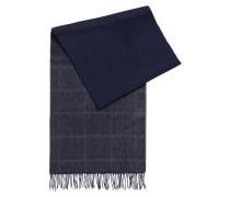 Karierter Schal aus leichtem Schurwoll-Mix mit Kaschmir