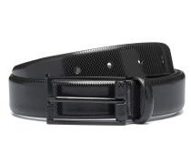 Gürtel aus geprägtem Leder mit lackierten Metall-Details