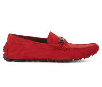 Veloursleder-Schuhe mit Metall-Detail