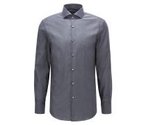 Slim-Fit Hemd aus Baumwolle mit zweifarbiger Webstruktur