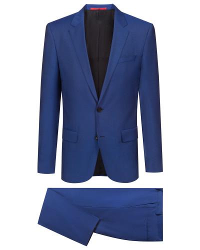 Slim-Fit Anzug aus Schurwolle in Mohair-Optik