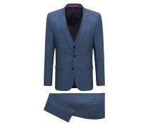 Extra Slim-Fit Anzug mit Weste aus Schurwolle