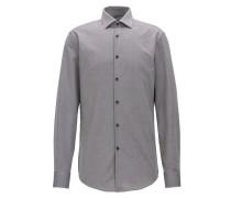 Slim-Fit Hemd aus atmungsaktiver Baumwolle