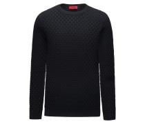 Regular-Fit Pullover aus Baumwolle mit Allover-Struktur