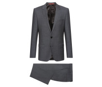 Slim-fit suit in a virgin-wool blend