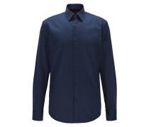 Regular-Fit-Hemd aus Baumwolle mit diagonaler Streifen-Struktur
