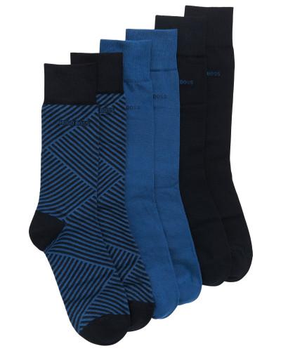 Dreier-Pack Socken aus Baumwoll-Mix im Geschenk-Set