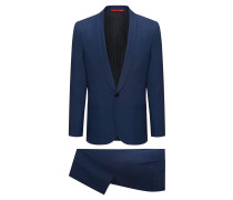 Extra-slim-fit tuxedo suit in a virgin-wool blend