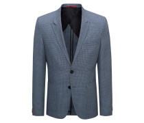 Extra-slim-fit virgin wool jacket in oversized birdseye pattern