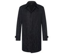 Wasserabweisender Regular-Fit Mantel aus Baumwoll-Mix