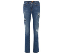 Slim-Fit Jeans aus komfortablem Stretch-Denim mit Flammgarn