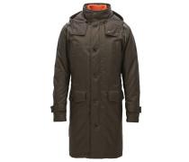 Oversize-Mantel aus einem wasserabweisenden Material-Mix