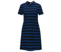 Regular-Fit A-Linien-Kleid aus elastischem Material-Mix