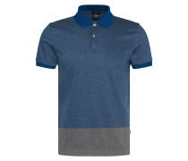 Gestreiftes Slim-Fit Poloshirt aus Baumwolle
