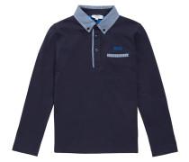 Kids-Langarmshirt aus Baumwolle mit Karo-Details
