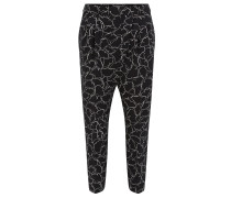 Relaxed-Fit-Hose in Cropped-Länge aus elastischem Material-Mix