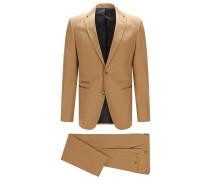 Regular-Fit Anzug aus garngefärbter Stretch-Baumwolle