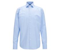 Regular-Fit Hemd aus garngefärbtem Baumwoll-Twill