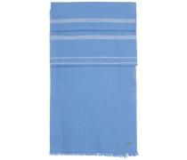 Gestreifter und melierter Schal aus softer Baumwolle