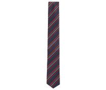 Spitz zulaufende Krawatte aus Seide mit Strukturstreifen