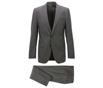 Dezent gemusterter Slim-Fit-Anzug aus Schurwolle