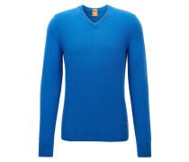 Regular-Fit Pullover aus Baumwoll-Mix mit Wolle