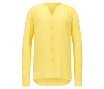 Regular-Fit Bluse aus Seiden-Crêpe