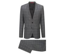 Karierter Extra Slim-Fit Anzug aus Schurwolle
