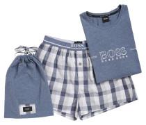 Pyjama-Set aus garngefärbter Baumwoll-Popeline