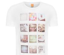 Regular-Fit T-Shirt aus Baumwolle mit Polaroid-Print