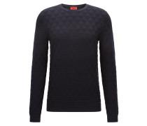Slim-Fit-Pullover aus Baumwolle mit geometrischer Struktur