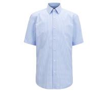 Regular-Fit Kurzarm-Hemd aus Baumwolle
