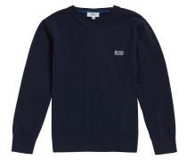 Kids-Pullover aus Baumwolle mit V-Ausschnitt