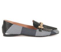 Loafer aus Leder mit Ketten-Detail