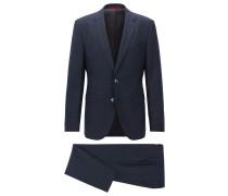 Regular-Fit Anzug aus Fil-à-Fil-Schurwolle