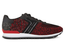 Sneakers aus gestricktem Material-Mix