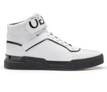 Hightop Sneakers aus Nappaleder und Material-Mix
