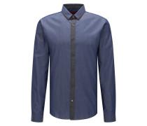 Extra Slim-Fit Hemd aus Baumwolle in verschiedenen Denim-Tönen
