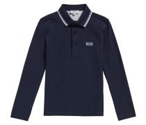Kids-Poloshirt aus Baumwolle mit Streifen-Details