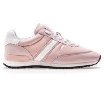 Sneakers aus Material-Mix mit Veloursleder-Bahnen