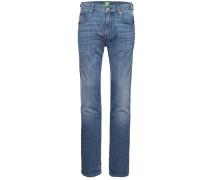 Regular-Fit Jeans aus Stretch-Baumwolle mit Used-Optik