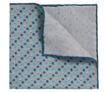 Zweiseitiges Einstecktuch aus Seiden-Baumwoll-Mix mit Muster