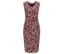 Slim-Fit Kleid aus Crêpe-Gewebe mit Print