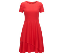 Regular-Fit Kleid aus fließendem Crêpe
